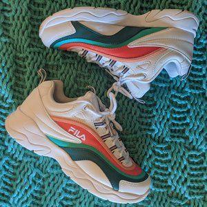 Fila Ray Miami White Storm & Cherry Tomato Shoes